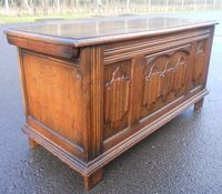 Carved Oak Reproduction Blanket Box